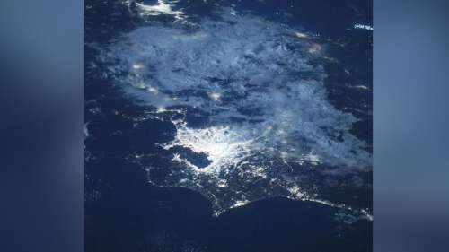 View of Tokyo from space