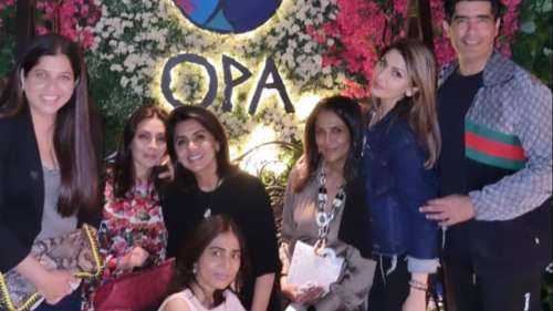 Neetu Kapoor and daughter Riddhima had a 'smashing' time at a party on Monday! See photos