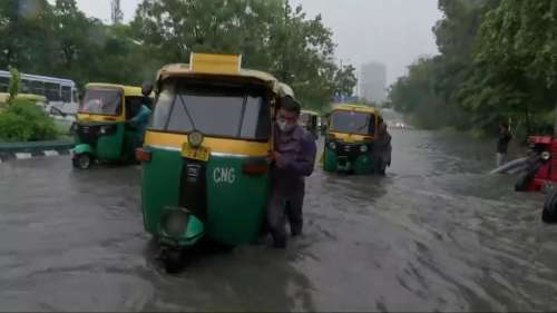 Rain pain in Delhi: Water enters moving bus, traffic snarls after heavy showers