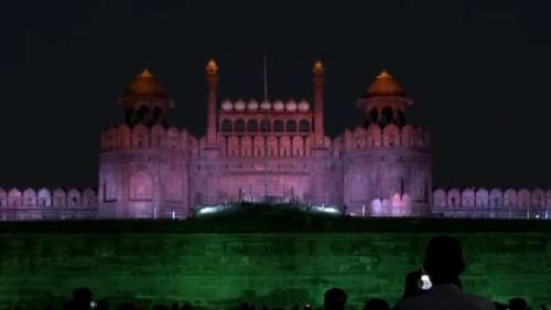 Historic! Monuments lit up in tricolour to mark 100 crore vaccine feat