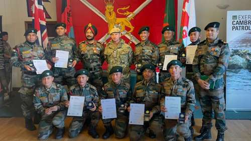 Indian Army wins gold medal at the Cambrian Patrol Exercise in UK