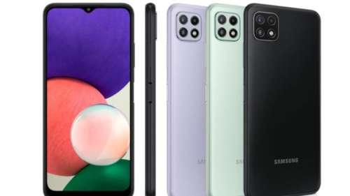 Samsung Galaxy A22 भारत में लॉन्च, OnePlus Nord 2 की टक्कर में सैमसंग ने उतारा अपना किफायती 5G स्मार्टफोन