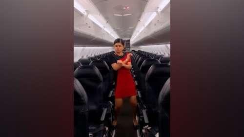 Air hostess' viral dance