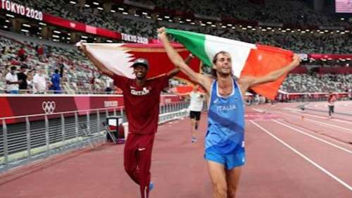 Tokyo Olympics 2020: A rare moment! Qatar and Italy share high jump gold