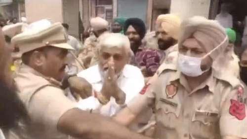 On camera: Punjab farmers manhandle BJP leaders in Patiala
