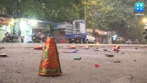 कानपुर में हुई जमकर आतिशबाजी, छाई धुंध की चादर, सांस लेना हुआ दुश्वार