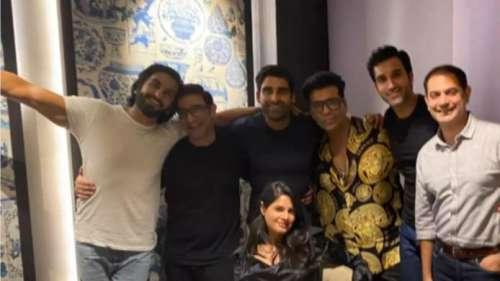 Karan Johar ने रॉकी रणवीर सिंह के साथ दिल्ली में की पार्टी, शेयर की तस्वीरें