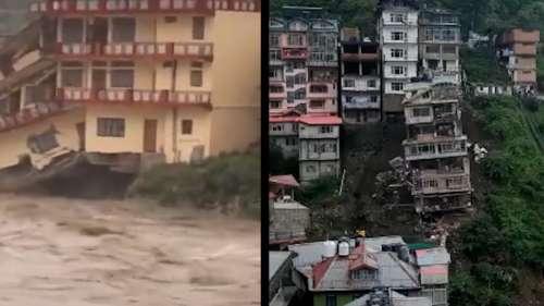 Shimla landslide: dramatic building collapse on camera, a recall to 2013 Kedarnath flood horror