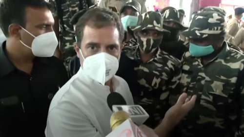 Rahul's argument at airport