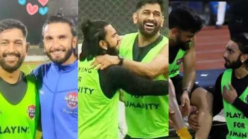 Football Match: रणवीर सिंह के साथ एमएस धोनी ने खेला फुटबॉल मैच, दिखी शानदार बॉन्डिंग