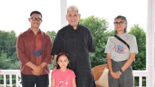 Aamir-Kiran ने जम्मू कश्मीर उपराज्यपाल मनोज सिन्हा से की मुलाकात, कई मुद्दों पर हुई चर्चा