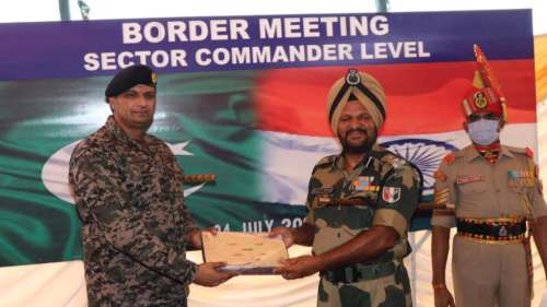 BSF-Pak Rangers Meet: सीमा सुरक्षा बलों के कमांडरों की बैठक में भारत ने ड्रोन गतिविधियों का मुद्दा उठाया