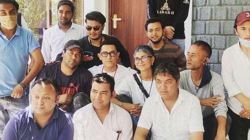 साथ दिखे आमिर-किरण