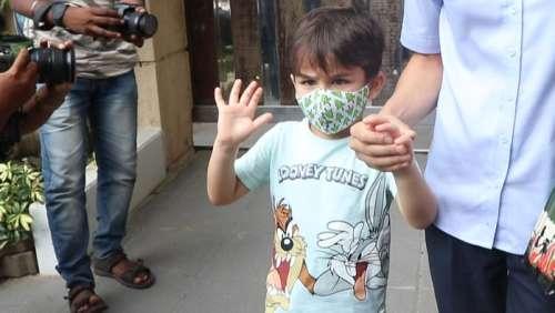 SaifAli Khan's son Taimuracts like a celeb, asks paparazzi 'can I go'