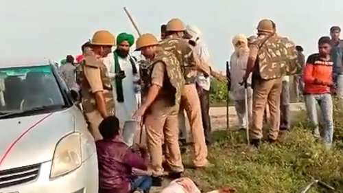 Lakhimpur Violence: Police arrest driver of SUV in convoy that ran over farmers