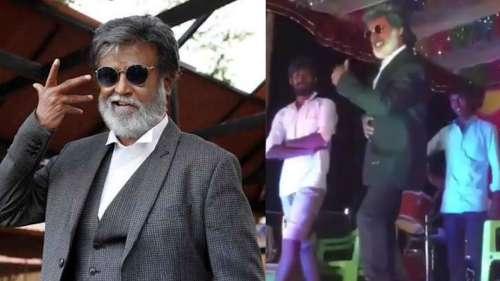Rajinikanth's lookalike tries to pull off stunt on stage, fails miserably