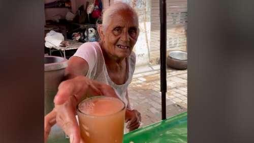 80-yr-old selling juice