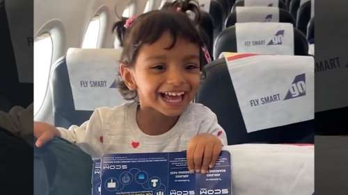 Watch: little girl finds out flight's pilot is her father, her reaction is adorable