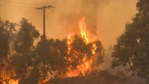 California wildfires continue to blaze, threaten homes