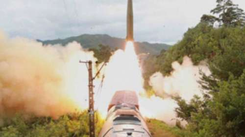 North Korea showcases rail-borne missile test, South Korea tests ballistic missiles
