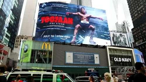 'Toofan' storms on to Times Square Billboard, Farhan Akhtar on cloud nine