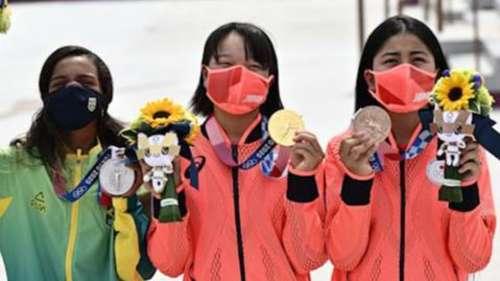 Tokyo 2020 Olympics: 13-year-olds on podium in street skateboarding