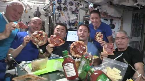 Floating party: Watch astronauts enjoy pizza at International Space Station