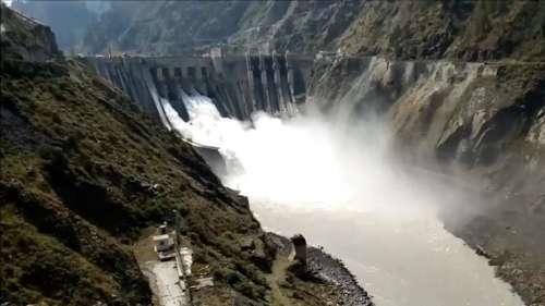 River flows over danger mark