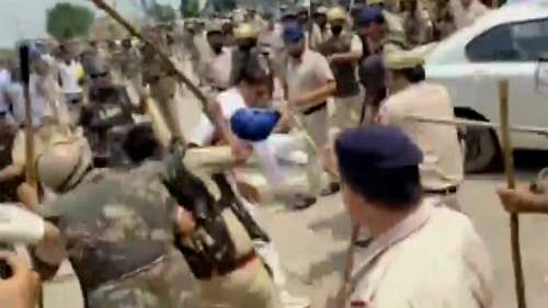 Caught on cam: Karnal official asks police to hit farmers on the head