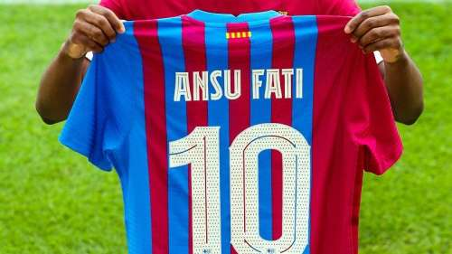 Messi's iconic No.10 jersey to be donned by Ansu Fati for Barcelona