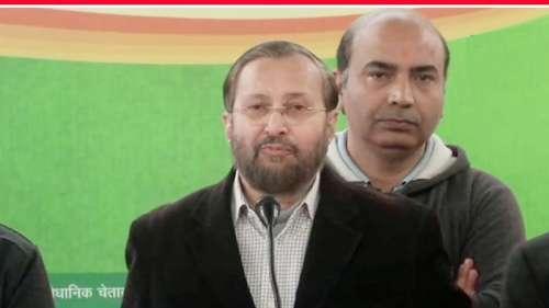 बीजेपी प्रधानमंत्री मोदी के चेहरे पर लड़ेगी 'दिल्ली का दंगल': जावडेकर