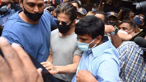 Watch: Shah Rukh Khan at Mumbai's Arthur Road jail to meet son Aryan Khan