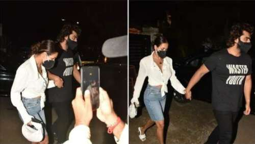Watch: Malaika Arora and Arjun Kapoor walk hand-in-hand after dinner date