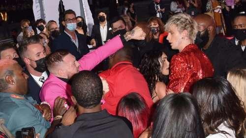 Watch: Rapper Machine Gun Kelly, Conor McGregor get into scuffle at MTV VMAs red carpet