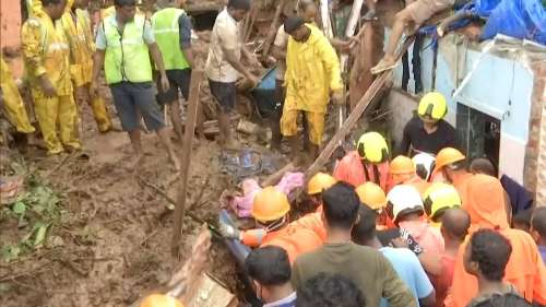 25 dead, several injured in Mumbai after houses collapse due to heavy rain