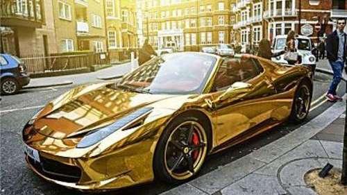 'जब आप अमीर हैं तो अपना पैसा कैसे खर्च न करें', Pure Gold Ferrari देखकर आनंद महिंद्रा ने दी काम की सलाह