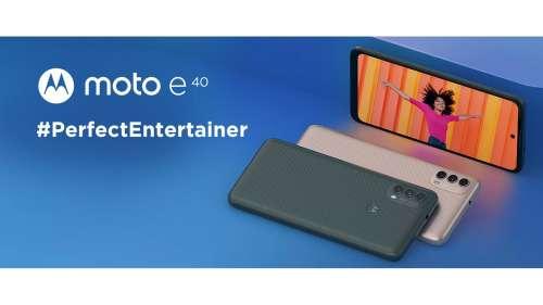 Motorola launches Moto E40 smartphone in India: check price, specs