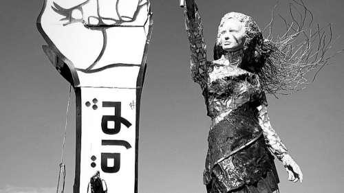 Lebanese artist creates sculpture from Beirut explosion rubble