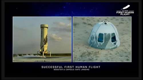 अंतरिक्ष के Karman Line के पार जाकर सकुशल लौटे Jeff Bezos, लैंडिंग के बाद कुछ यूं दिया रिएक्शन