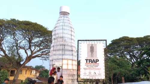 Kochi installation highlights menace of plastic pollution