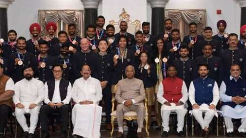 Watch! President Ram Nath Kovind meets the Indian Olympic contingent