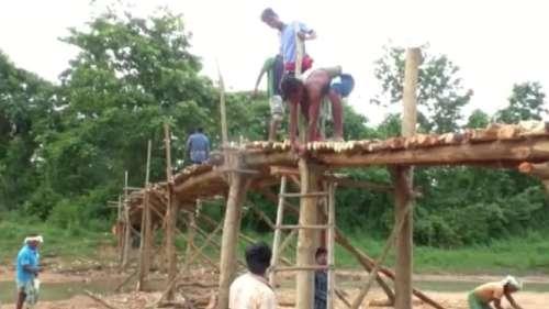 Watch: Odisha villagers build wooden bridge as govt fails to keep promise