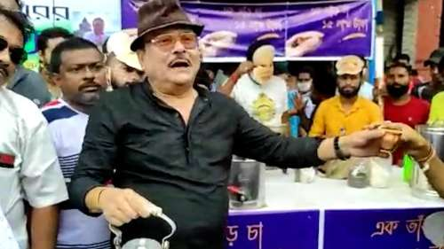 Madan Mitra:ভবানীপুরে চা বিক্রি করলেন মদন মিত্র, জ্বালানি তেলের মূল্যবৃদ্ধির প্রতিবাদ