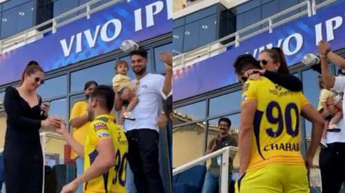 She said yes! watch as Deepak Chahar proposes to his girlfriend after CSK game