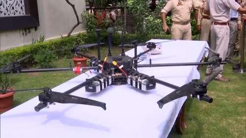 J&K police shoot down explosives-laden drone along the border in Jammu
