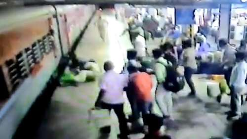 On cam: RPF jawan saves pregnant woman from falling into gap between moving train and platform