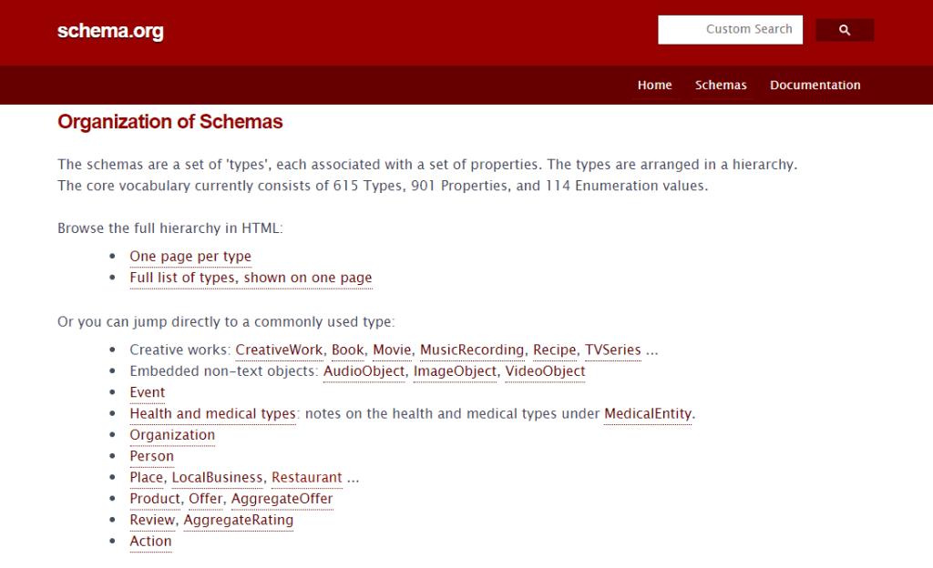 Schema.org site