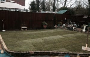 A New Garden lawn Turfed by Ed's Garden Maintenance