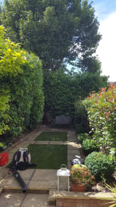 After our Garden Clearance Service on this garden in Raynes Park