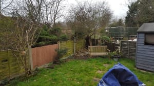 Before a re-turf and a garden clearance by Ed's Garden Maintenance